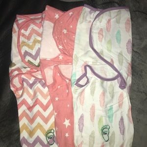 Baby swaddle wrap blankets.